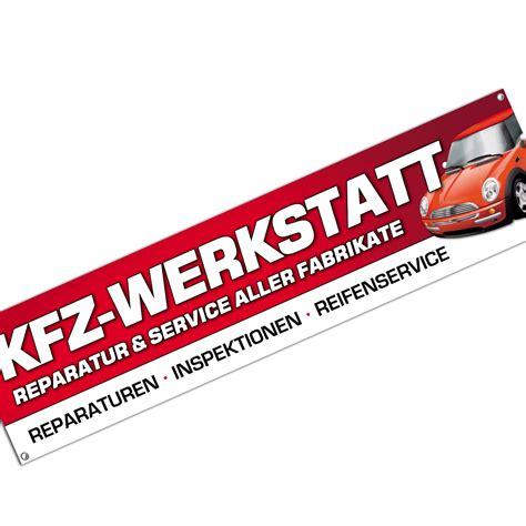 kfz werkstatt banner werbebanner plakat 2 x 0 5 meter - Werkstatt Banner