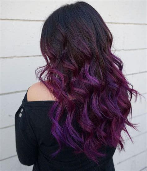 purple balayage ideas  pinterest