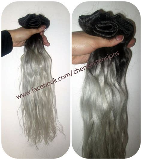 how to color weave grey 1b off black silver grey hair extensions dip dye 8a remy