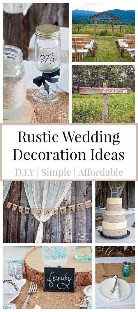 rustic wedding ideas   diy affordable cheap