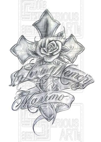 in memory of cross tattoo designs 10 cross memorial designs