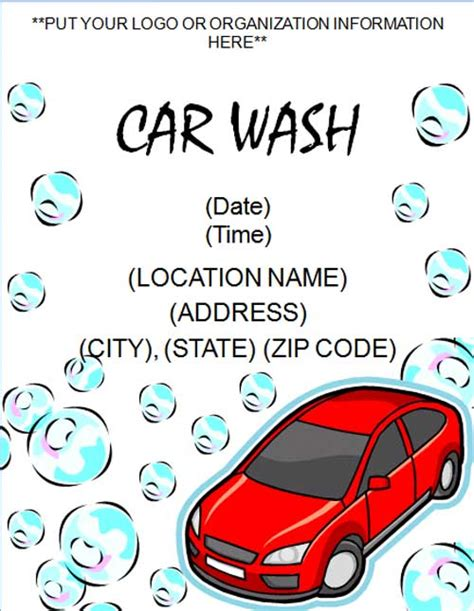 car wash template free car wash flyer template free flyers free