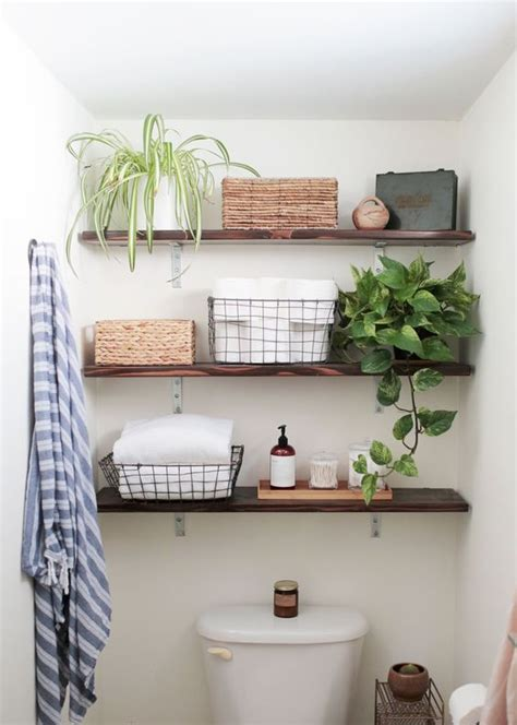 Bathroom Open Shelves 26 Simple Bathroom Wall Storage Ideas Shelterness