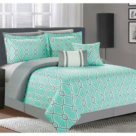 grey and turquoise bedding 7pc bedroom comforter set bedding sham pillow machine wash