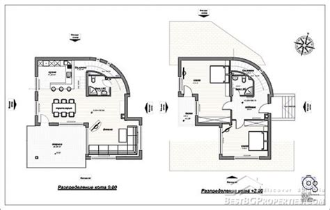 2 Floor House by 2 Bedroom Country Villa Modern Design Rural Villa Plan