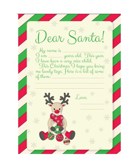 Santa Letter Format Letters Font Letter From Santa Template Word