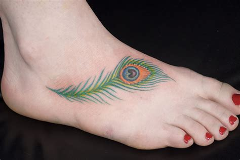 peacock foot tattoo designs peacock feather designs foot 764