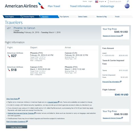 Aa Baggage Fee by 346 Phoenix To Cancun Nonstop R T Fly Com Travel Blog