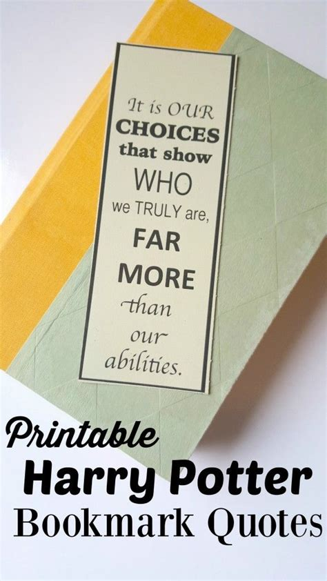 printable bookmarks harry potter free harry potter bookmarks book quotes inspired printable