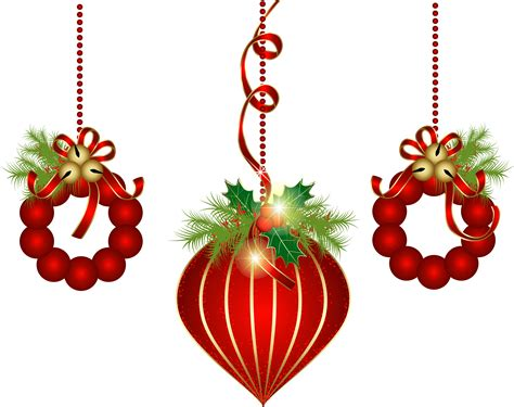 transparent red christmas ornaments png clipart clipart