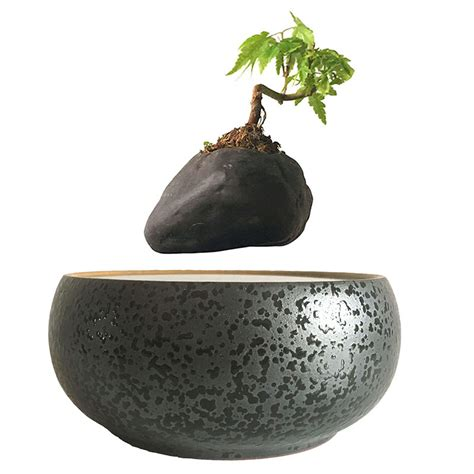 Pot Pohon Melayang Levitating Floating Plant 2017 japan magnetic levitation floating plants ceramic flower pot bonsai pot best gifts for