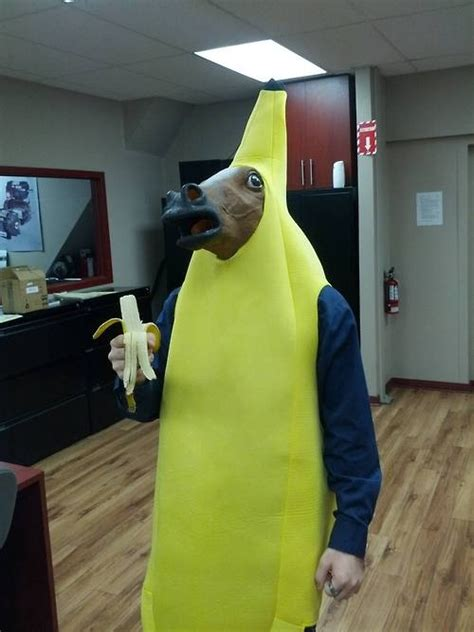 funny horse head mask funnymadworld googled guy in banana suit with horse mask was not