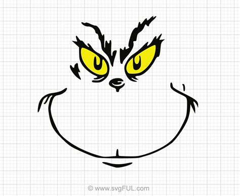 grinch face svg clipart svgful