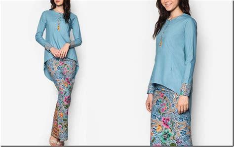 design baju batik untuk hijab batik inspired kurung with asymmetrical high low hem