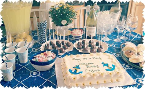 table decorations for boy baby shower 33 unique nautical baby shower ideas