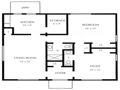 1 bedroom cottage floor plans one bedroom open floor plans 1 bedroom cottage floor plans