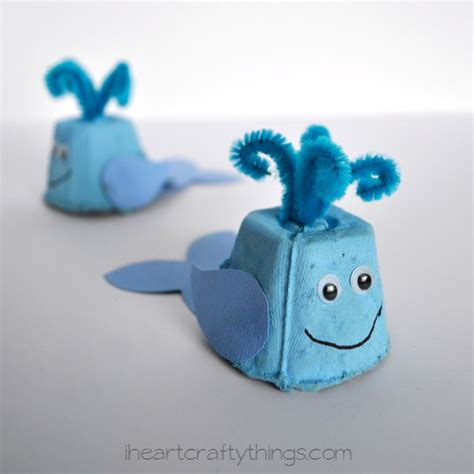 craft projects with egg cartons egg whale craft i crafty things