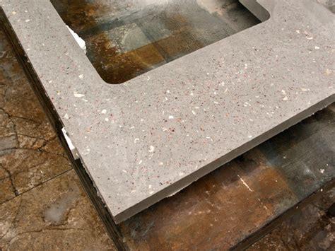 Terrazzo Concrete Countertops four cut clear cheng concrete exchange