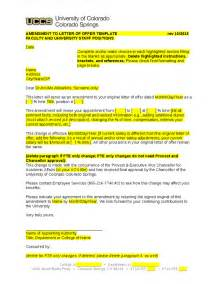 Offer Letter Amendment Letter Of Offer Staff Amendment Hashdoc