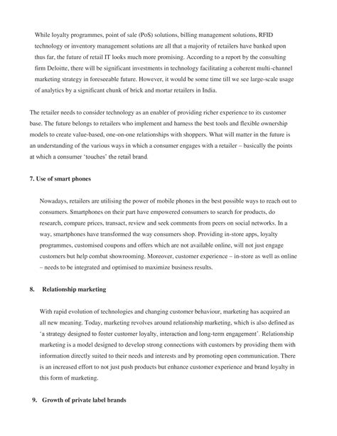 Retail Marketing Notes For Mba Students by Note On Retail Management Notes