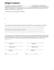 simple contracts templates 8 simple contract template timeline template