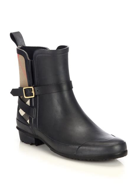 burberry boots mens burberry riddlestone boots in black for lyst