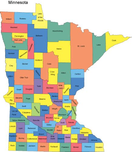 mn county map minnesota map with counties