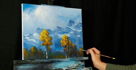 acrylic painting classes san jose mountain aspen an acrylic painting lesson tim