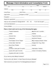 massage consultation form fill online printable