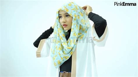 tutorial hijab pashmina satin untuk kuliah tutorial hijab pashmina floral untuk kuliah youtube