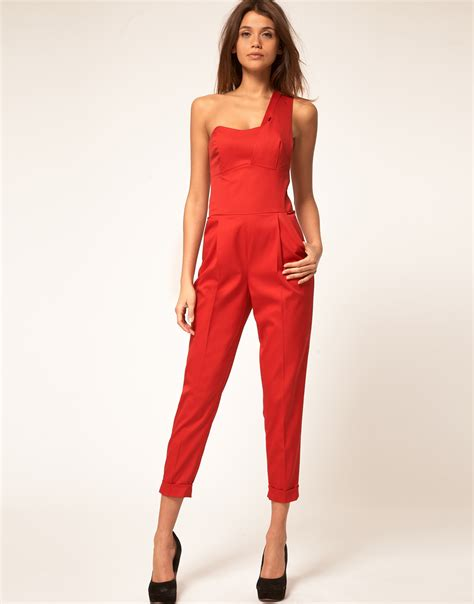 Promo Jumpsuit Overall 23 Set asos collection jumpsuit with one shoulder detail in lyst