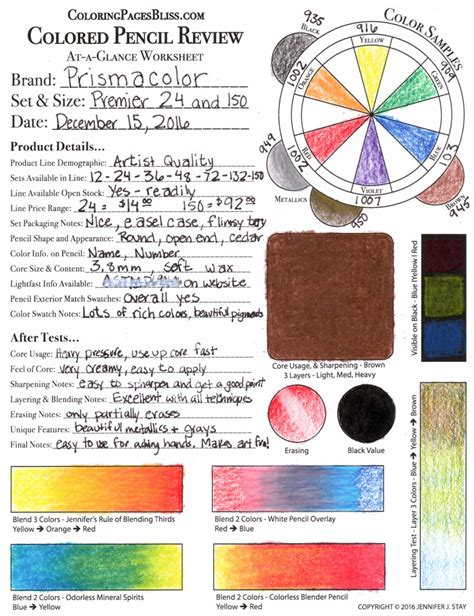 coloring pages bliss color chart prismacolor premier colored pencils review
