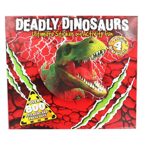 deadly dinosaurs ultimate sticker and activity pack activity packs