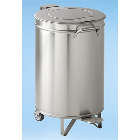 stainless cylindrical waste pedal bin