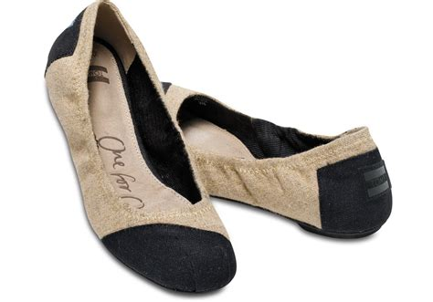 toms shoes ballet flats toms burlap alessandra s ballet flats in lyst