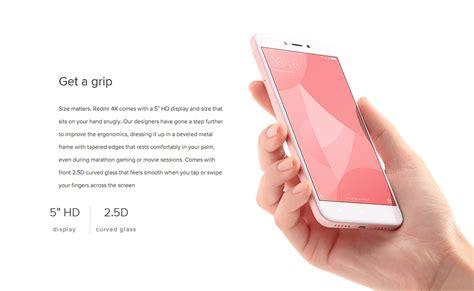 Xiaomi Redmi 4x Smartphone Black Memory 32 Gb Rom 3 Gb global version xiaomi redmi 4x 3gb 32gb smartphone black