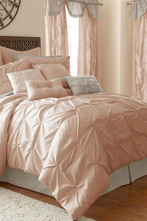 blush bedding sets amrapur ella 24 piece comforter set blush modern