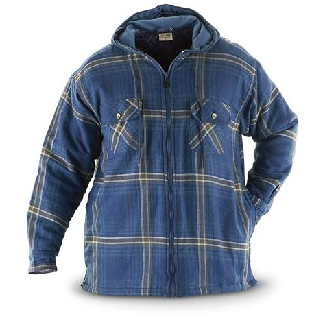 Hooded Quilted Coats Outerwear by Btc Insulated Hooded Quilted Shirt Jacket 204272