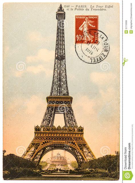 imagenes vintage de la torre eiffel postal del vintage con la torre eiffel en par 237 s im 225 genes