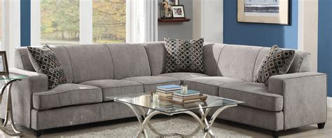 coaster tess sectional sofa coaster tess sectional sofa grey 500727 at homelement com