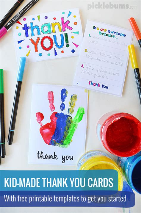 easy thank you card template kindergarten printable thank you cards to make with your