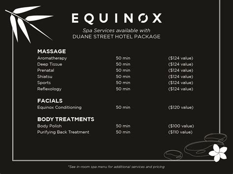 Equinox Gift Card Balance - romance package tribeca hotel deals duane street hotel