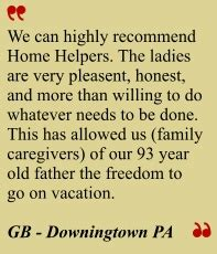 home helpers chester county homehelperschesco home