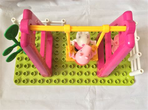 peppa pig swing set peppa pig playground swing construction set review