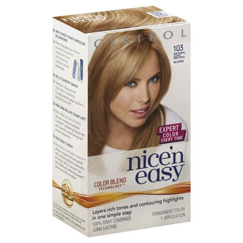 clairol nice n easy natural neutral blonde new style for clairol nice n easy hair color natural light neutral