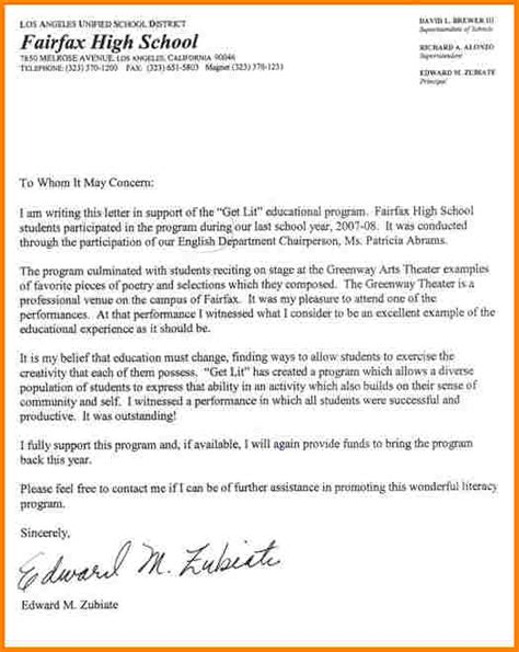 high school recommendation letter template 11 scholarship recommendation letter for high school