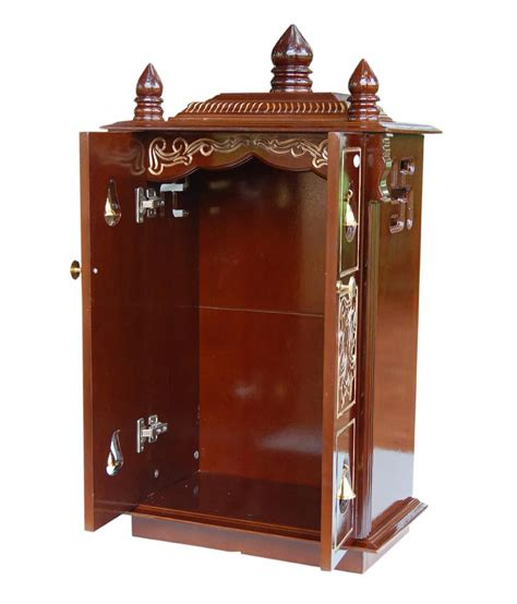 Wooden Pooja Shelf by Wooden Pooja Cabinet Aarsun Woods Care Partnerships