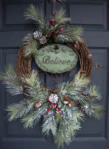 rustic christmas wreaths believe outdoor holiday wreath