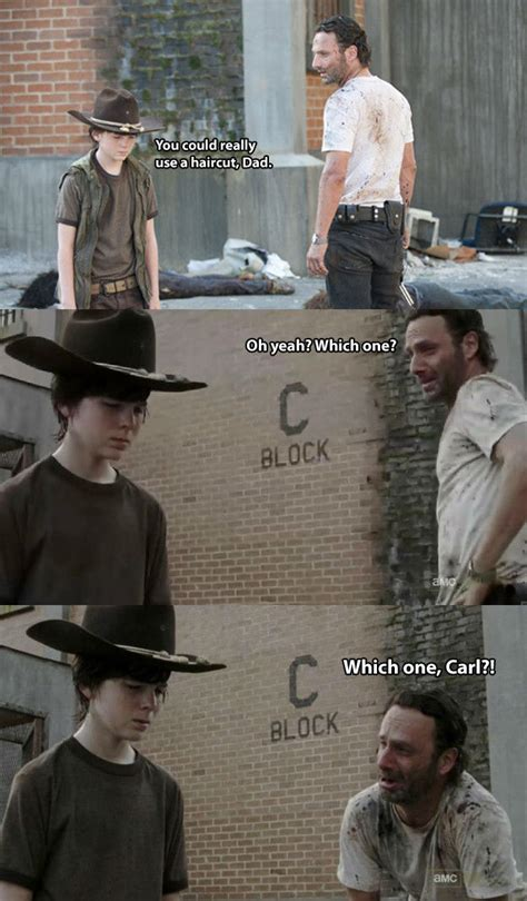 Walking Dead Carl Meme - walking dead dad jokes 24 pics weknowmemes