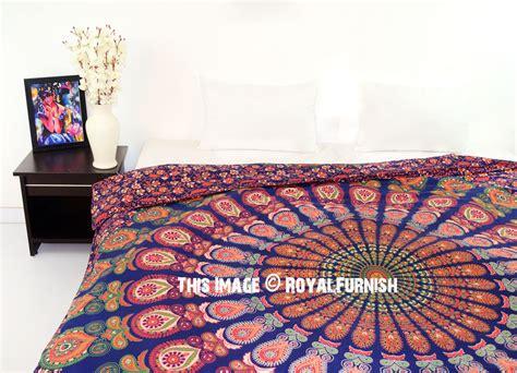 trippy bedding multi colorful decorative trippy peacock boho mandala